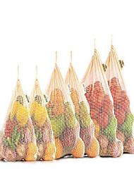 Недорогие -многоразовые мешки для продуктов - экологически чистые мешки для продуктов - сетчатые мешки для продуктов - мешки для продуктов netzero - мешок для продуктов из хлопка& №40; 3, набор из 3 -