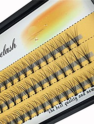 cheap -scala 10 root 60pcs black handmade false eyelashes natural long individual eyelashes extension fake lashes makeup beauty cosmetic (8mm)