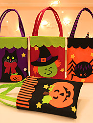 cheap -Halloween Party Toys Non-woven Bags Halloween Gift Bags Trick or Treat 7 pcs Cat Pumpkin Cartoon with Handles Non-woven Fabrics Kid's Adults Trick or Treat Halloween Party Favors Supplies