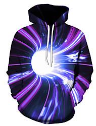 cheap -Men's Pullover Hoodie Sweatshirt Graphic 3D Hooded Daily 3D Print Basic Hoodies Sweatshirts  Long Sleeve Black