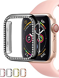 cheap -Diamond case cover For Apple watch Series 6 SE 5 4 3 2 case cover 44mm 40mm 42mm 38mm iwatch case accessories protective bumper