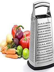 cheap -box grater, 4-sided stainless steel large 10-inch grater for parmesan cheese, ginger, vegetables
