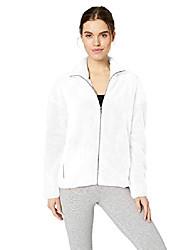 cheap -amazon brand - plus size women's cozy teddy bear fleece yoga jacket, white/plus, 3x