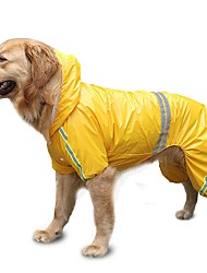 cheap -Dog Cat Rain Coat Solid Colored Minimalist Dog Clothes Puppy Clothes Dog Outfits Yellow Red Blue Costume for Girl and Boy Dog Polyester S M L XL XXL 3XL