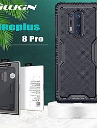cheap -Nillkin Case For OnePlus OnePlus 8 Pro Shockproof Back Cover Solid Colored / Armor TPU / Acrylic / PC Branded Packaging Protective Case