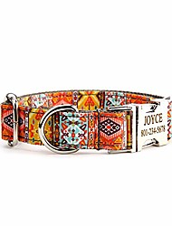 cheap -customized dog collar, personalized laser engraved aluminum alloy buckle – name phone number id collar adjustable pet accessories for small medium and large dog as gift