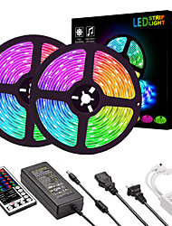 cheap -2*5M LED Light Strips RGB Tiktok Lights 2835 600 LEDs 8mm 36W Strip Flexible Light LED with 44Key IR Remote Controller Kit and 12V 2A Power Supply AC110-240V