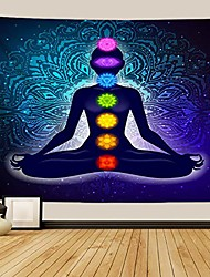 cheap -indian seven chakra meditation tapestry yoga studio tapestry room decorations inner peace wall tapestry reiki spiritual healing gift for friend & #40;black, 50wx60l& #41;