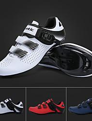 cheap -SANTIC Adults' Sneakers Bike Shoes Nylon Breathable Anti-Slip Cushioning Road Cycling Cycling / Bike Recreational Cycling White Red Dark Navy Men's Women's Cycling Shoes / Ventilation / Ventilation