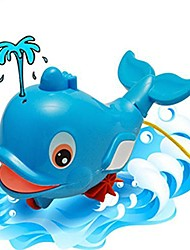 cheap -baby bath toy, water spray windup dolphin bathtub swimming shower toy for kids baby blue