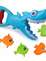 cheap -bath toys fun baby bathtub toy shark bath toy for toddlers boys & girls shark grabber with 4 toy fish included (shark grabber)