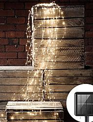 cheap -2pcs 1pcs Outdoor 2mx10pcs 200LED Solar Vines Branch LED String Fairy Light Outdoor Garden Fence Tree LED String Fairy Branch Light