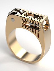 cheap -Ring Geometrical Gold Brass Gear Statement European 1pc 6 7 8 9 10