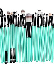 cheap -20 pieces makeup brush set,  makeup brushes kit cosmetics foundation wood handle premium make up brushes toiletry kit blending blush eyeshadow eyeliner face powder makeup brush set &