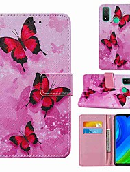 cheap -Case For Huawei P smart 2020 Honor 9S Y5p Wallet Card Holder with Stand Full Body Cases Pink Butterfly PU Leather TPU for Huawei Y6p