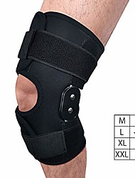 cheap -hinged knee brace, 4 available sizes adjustable compression wrap for men & women, knee support for acl, tendon, ligament & meniscus tear injuries, sports in gym basketball running hiking (l)