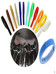 cheap -12 pcs puppy whelping collars multicolor adjustable double sided reusable comfortable soft fabric id bands for small dogs pet cat newborn kittens litter & #40;12 color& #41;