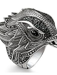 cheap -Band Ring AAA Cubic Zirconia Logo Black Brass Bird Statement Rock 1pc 7 8 9 10 11 / Men's