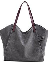 cheap -women's canvas large capacity tote shoulder work bag handbags satchel purse