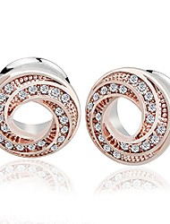 cheap -crystal ear plugs (rose gold-16mm(5/8''))