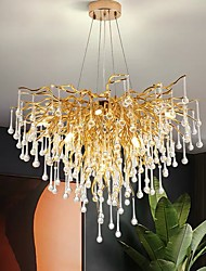cheap -80 cm Chandelier Pendant Light Luxury Gold Modern Fashion 110-120V 220-240V