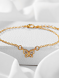 cheap -Anklet Vintage European Men's Body Jewelry For Halloween Party Evening Retro Alloy Butterfly Gold Silver / Women's