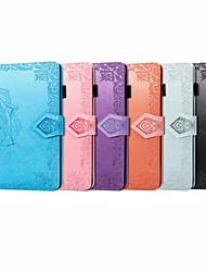 cheap -Case For iPad Mini 3 2 1  iPad Mini 4 iPad Mini 5 Card Holder Flip Magnetic Full Body Cases Solid Colored PU Leather