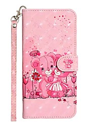 cheap -Case For Samsung Galaxy S20 S20 Plus S20 Ultra Wallet Card Holder with Stand Full Body Cases Bear PU Leather TPU for Galaxy A21s Galaxy A01 Galaxy A31 Galaxy A41 Galaxy A51 Galaxy A71