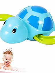 cheap -1 pc bath toy swimming turtles floating wind-up baby bath toy adorable turtle bathtub toys for toddlers floating toys (blue)