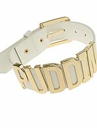 cheap -women's adjustable fashion high neck white belt letter gold puddin choker necklace collar for women girls adult kids prime