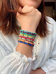 cheap -Women's Bead Bracelet Friendship Bracelet Loom Bracelet Fancy Fashion Birthday Vintage Theme Stylish Ethnic Colorful Fashion Cute Resin Bracelet Jewelry Blue / Purple / Red For Sport Date Birthday