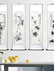 cheap -chinese traditional hand painting ink feng shui scrolled painting office and living room decoration wealth and good luck
