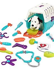 billige -dalmatiner dyrlæge kit - interaktiv dyrlæge klinik og bur foregiver leg for børn (15 stykker)