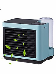 cheap -personal air cooler,portable air conditioner, mini air coolers,4-in-1 portable table fan with 3 fan speeds, mini air conditioner for office, usb charging, quiet, 7-color night light (blue (2020))