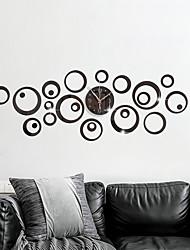 cheap -DIY Geometry Bubble Mirror Wall Clock Circular Decoration Silent Wall Sticker Clock Acrylic Creative Fashion Wall Watch Clock