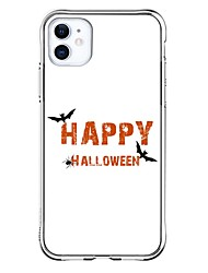 cheap -Personalized Customized Case For Apple iPhone 11 / iPhone 11 Pro / iPhone 11 Pro Max Shockproof / Ultra-thin / Transparent Back Cover Halloween / Text Soft TPU