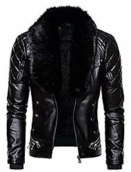 cheap -men's zipper removable fur collar jacket, vintage steam pocket punk gothic retro coat