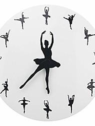 cheap -ballerina wall clock ballet dancing hanging decor clock dancer home decor gift
