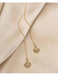 cheap -Women's Cat's Eye Stud Earrings Dangle Earrings Braided Fashion Stylish Elegant European Romantic S925 Sterling Silver Earrings Jewelry Gold For Party Evening Formal Engagement Date Beach 1 Pair