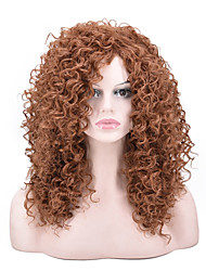 cheap -Synthetic Wig Curly Afro Curly Pixie Cut Wig Long Light Brown Synthetic Hair Women's Party Classic Comfortable Light Brown