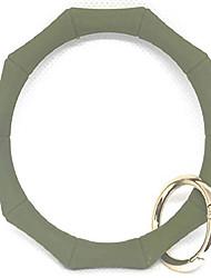 cheap -hadley mae designs key ring bracelet keychain wristlet keychain bangle key ring (army green)