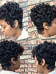 cheap -short ombre brown black curly hair wigs for black women synthetic short wigs for black women african american women wigs