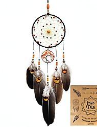cheap -Boho Dream Catcher Handmade Gift Wall Hanging Decor Art Ornament Craft Tree Of Life 60*15cm for Kids Bedroom Wedding Festival