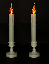 cheap -Halloween Party Toys LED Lighting Electronic Candle Light 2 pcs Twinkling Plastic Kid's Adults Trick or Treat Halloween Party Favors Supplies