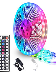 cheap -5 Meters Waterproof Flexible LED Light Strips 90x5050 RGB SMD LEDs IR 44 Key Controller with Installation Package and 12V Adapter Kit