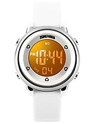 cheap -kid watch multi function 50m waterproof sport led alarm stopwatch digital child wristwatch for boy girl white