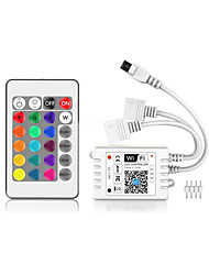 cheap -WiFi Wireless Double head LED Smart Controller Working with Android and IOS System Mobile Phone Free App for RGB LED Light 5V to 28V With One 24 Keys Remote Contro