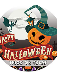 cheap -Halloween Party Halloween Decor Horror Ghost Holiday Wall Stickers Holiday Wall Stickers Toilet Stickers, PVC Home Decoration Wall Decal Wall / Toilet Decoration 1pc 29*29cm