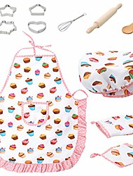 cheap -kids cooking and baking chef set - chef role play costume set play kitchen toys pretend cooking toy cookware playset