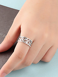 cheap -Ring Hollow Out Silver Alloy Flower Stylish European Sweet 1pc 5 6 7 8 9 / Women's